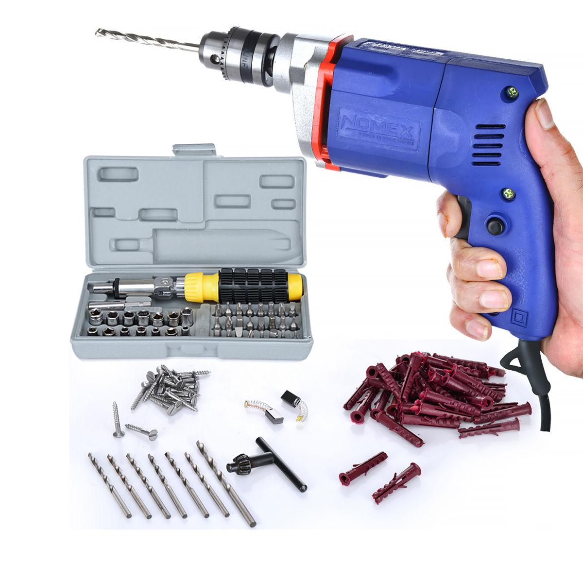 Buy 112 Pcs Drill Machine & Screwdriver Set Combo Online ...