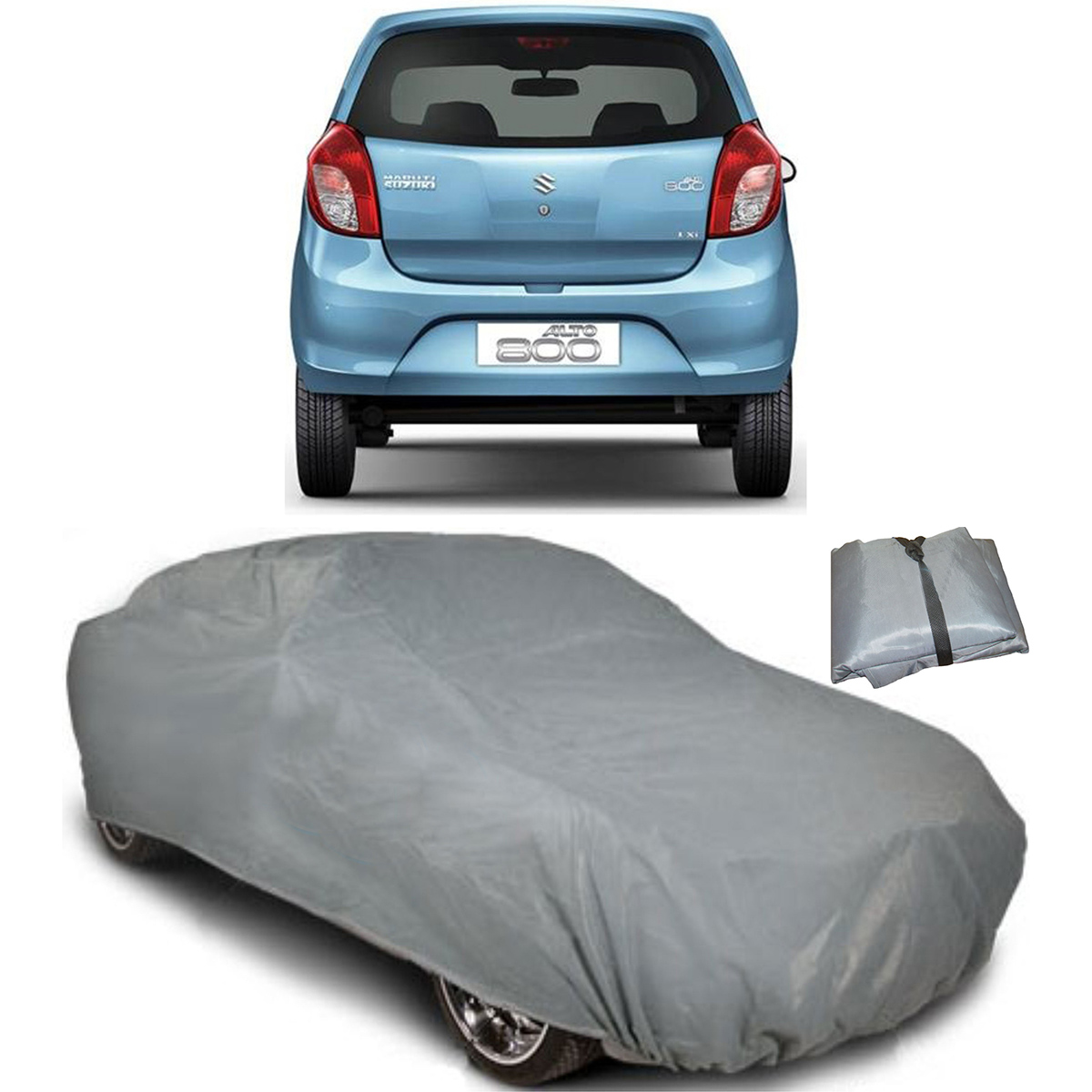 Buy digitru car body cover for maruti suzuki alto 800 dark grey online at best price in india