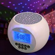 Star Projector Table Clock with Nature Sound-Grj-1