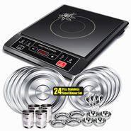 Combo of Branded Energy Efficient Induction Cooktop + 24 Pcs. Stainless Steel Dinner Set