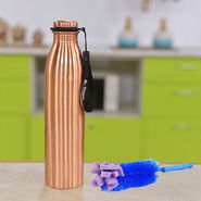 1 Litre Copper Bottle with Brush