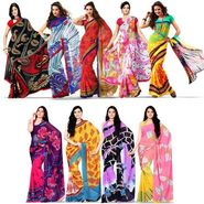 Set of 9 Rekha Georgette Sarees (9G9)