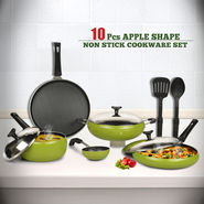 10 Pcs Apple Shape Non Stick Cookware Set