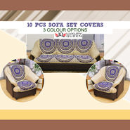 10 Pcs Sofa Set Covers