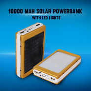 10000 mAh Solar Power Bank with LED Lights