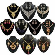 Kriaa Multicolor Zinc Alloy Set of 10 Jewellery Combo_1002444
