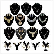 Kriaa Zinc Alloy Multicolor Set of 16 Jewellery Combo_1002454