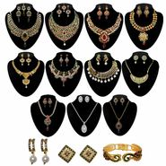 Kriaa Zinc Alloy Multicolor Set of 14 Jewellery Combo Set_1002506