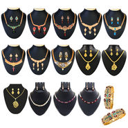 Kriaa Gold Plated Set of 15 Jewellery Combo Set_1002536
