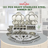 101 Pcs Heavy Stainless Steel Dinner Set