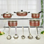 12 Pcs Colored Stainless Steel Cookware Set