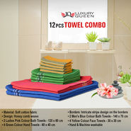 12 Pcs Towel Combo