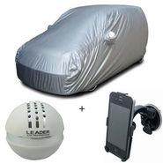 Combo of Maruti Suzuki Wagon R 1.0 Car Body Cover + Car Perfume For Dashboard + Car Mobile Phone Holder
