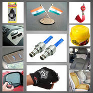 Combo of Seat Bead + Dvd Visor + Hanging Perfume + Bsm + Non Slip Anti Skid + Feng Sui + Neckrest + Flag + Half Gloves + Polish & Flashing Lights