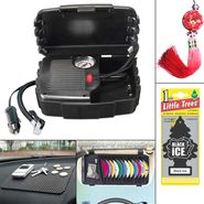 Combo of Car Air compressor + Air Perfume + CD-DVD Visor + Non Slip Mat + Hanging Fengshui