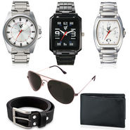 Combo of Rico Sordi 3 Mens Watches_RSMW_S2 + 1 Sunglass + 1 Wallet + 1 Belt