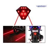 Speedwav LED LASER Brake Light With Flasher-RED