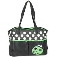 Wonderkids Green Bug Print Baby Diaper Bag_BK-1244-GBDB