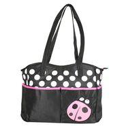 Wonderkids Pink Bug Print Baby Diaper Bag_BK-1244-PBDB