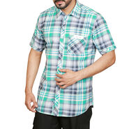 Sparrow Clothings Cotton Checks Shirt_wjc04 - Green