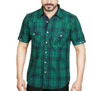 Sparrow Clothings Cotton Checks Shirt_wjc19 - Green