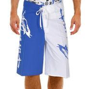 Billabong Poly Cotton  Printed Shorts_bysht2 - Royal Blue