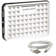 UNIC 12000mah Stylish Dual USB Portable Mobile Charger UN12K4 - White
