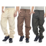 Pack of 3 Delhi Seven Plain Trackpants_Mpj345