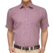 Rico Sordi Half Sleeves Checks Shirt_R008hs - Grey