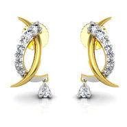 Avsar Real Gold and Swarovski Stone Shradhha Earrings_Bge006yb