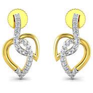 Avsar Real Gold and Swarovski Stone Sadhana Earrings_Bge057yb