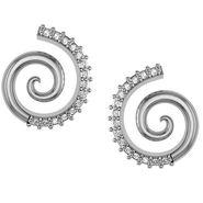 Avsar Real Gold and Swarovski Stone Shraddha Earrings_Bge088wb