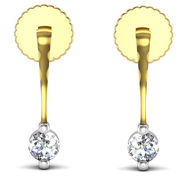 Avsar Real Gold and Swarovski Stone Aruna Earrings_Uqe006yb