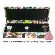 5 Slot Leatherette Vintage Vogue Art Watch Organiser_ADWB0000134