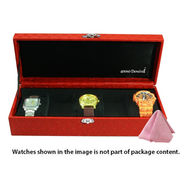 5 Slot Leatherette Vintage Red Watch Organiser_ADWB0000135 Slot