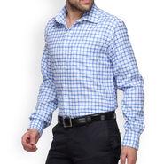 Copperline Cotton Rich Formal Shirt_CPL1153 - White Blue