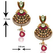 Spargz Antique Kundan Jhumki Earring_Aier157 - Multicolor