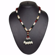Pourni Pearl & Color Stone Necklace Mala _Nk600