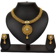 Pourni Classic Necklace Earring Jewellery Set_Prnk07
