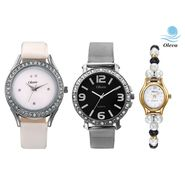 Combo of 3 Oleva Analog Wrist Watches For Women_Ovd175