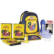 Boys Back To School Combo With BBC Kids English Learning Kit Yellow - CB1405
