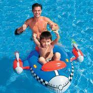 Intex 59380 Kids Inflatable Water Float Rocket Jet Shape Swim Pool