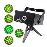 ZINGALALAA Seven Stars Kaleidoscope Flower Raster Laser Stage Lighting Projector (M016RG)