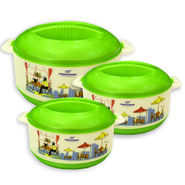 Princeware Casserole Set Of 3-Green