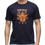 Effit Half Sleeves Round Neck Tshirt_Etscrn017 - Navy Blue