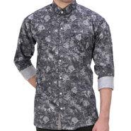 Printed Cotton Shirt_Gkdigin - Black & Grey
