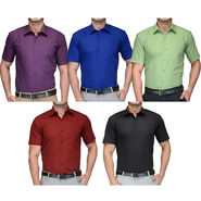 Combo of 5 Being Fab Cotton Formal Shirts_combo22
