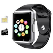 Being trendy AP01 with SIM card slot, 32GB Memory card slot and Fitness Tracker Stainless Steel Smartwatch(Black Strap)