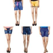 Pack Of 5 Uber Urban Denim Shorts-UB-11
