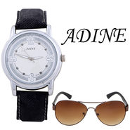 Combo of 1 Adine Wrist Watch For Women + 1 Sunglasses_AD50012